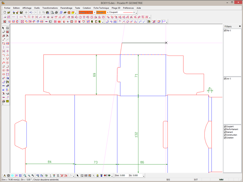 Treedim packaging cad and pos display design software for Logiciel plan 2d