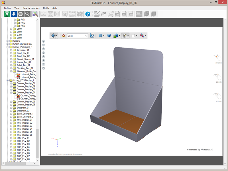 TreeDiM, Packaging CAD and POS display design software - PackLib